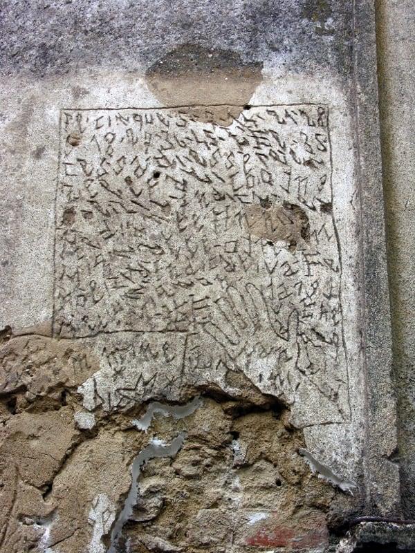 Graffito NOF Volterra